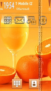 Oranges and Juice theme screenshot