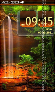 Waterfall 10 tema screenshot