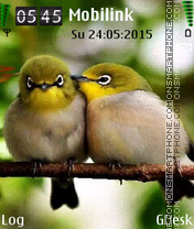 Birds Love tema screenshot