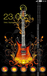 Guitar tema screenshot