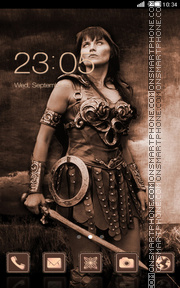 Xena Warrior Princess tema screenshot
