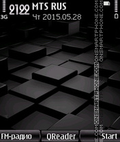 Black Cube theme screenshot