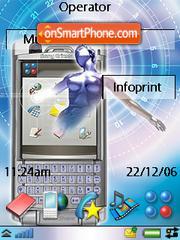 Sony Ericsson P990 theme screenshot