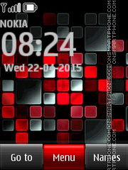 Red Mosaic tema screenshot