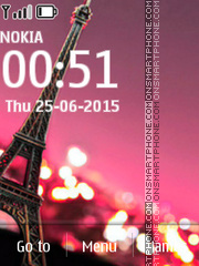 Eiffel Tower 320x240 tema screenshot