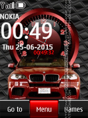 Bmw with Clock theme screenshot
