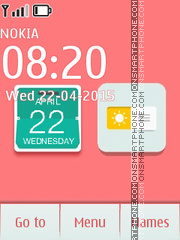 iCalendar Clock Flash tema screenshot
