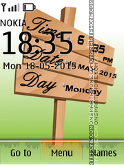 Digital and Date Clock theme screenshot