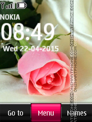 Pink Rose 06 tema screenshot