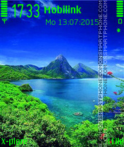 Blue green nature tema screenshot