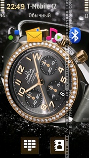 Omega Speedmaster With Diamonds Theme-Screenshot
