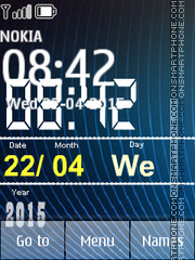 Big Digital Clock 01 theme screenshot