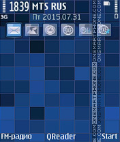 Blue Mosaic theme screenshot