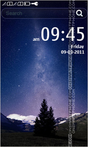 Milky Night tema screenshot
