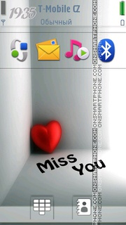 Miss You 13 theme screenshot