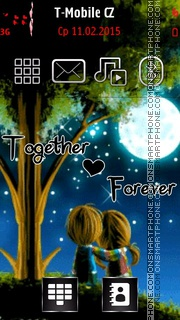 Together Forever 18 es el tema de pantalla