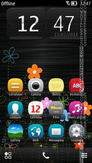 Simple Flowers tema screenshot