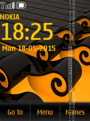 Yellow Abstract 04 tema screenshot