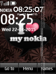 I Love Nokia 01 theme screenshot
