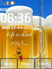Life is Short 01 tema screenshot
