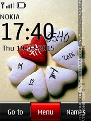 Love Digital Clock 07 tema screenshot