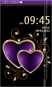 Decorative Hearts tema screenshot