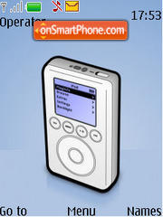 Ipod Mp3 Player es el tema de pantalla