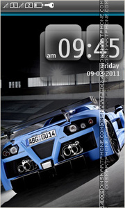Blue Sport Car 02 theme screenshot