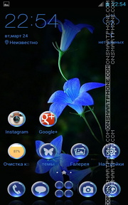 Blossoms Bell Flowers theme screenshot