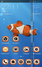 Clown Fish 04 tema screenshot