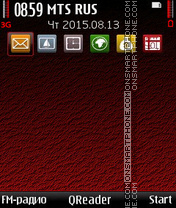 Red-Shade theme screenshot