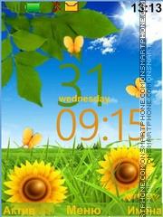 Скриншот темы Sunny Flowers