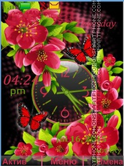 Flowers Butterflies tema screenshot