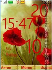 Poppies theme screenshot