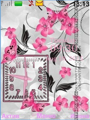 Butterflies Flowers tema screenshot