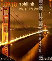 Golden Bridge theme screenshot