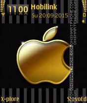 Golden apple theme screenshot