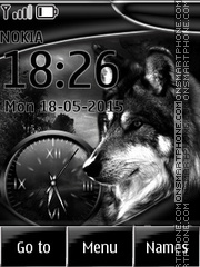 Wolf Clock 02 tema screenshot