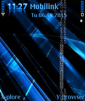 Blue abstract theme screenshot