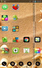 Seashells on Beach theme screenshot