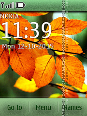 Leaves autumn tema screenshot