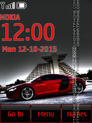 Audi R8 37 tema screenshot