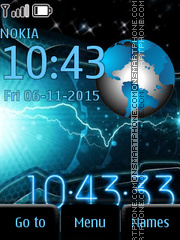 Space Clock tema screenshot