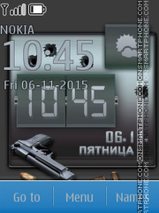 Pistol Clock tema screenshot