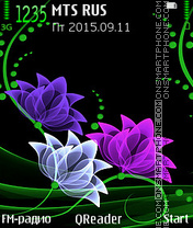 Neon-Flowers theme screenshot