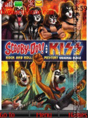 Scooby Doo & Kiss tema screenshot