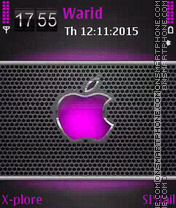 Purple apple theme screenshot