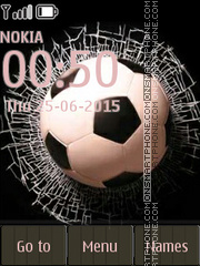 Football and Broken Glass theme screenshot