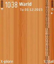Wooden theme screenshot