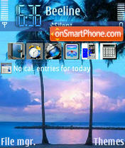 Tropical Magik tema screenshot